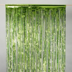 Foil Curtain Lime Green