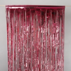 Foil Curtain Red