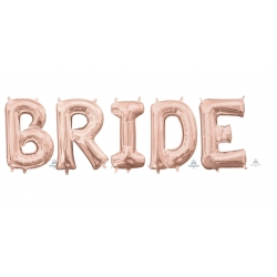 Anagram Foil Letter BRIDE Rose Gold 86cm