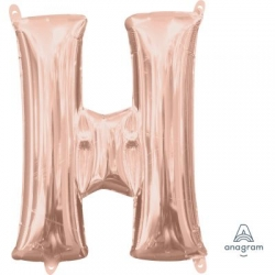 Anagram Foil Letter H Rose Gold 86cm