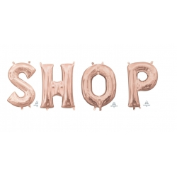 Anagram Foil Letter SHOP Rose Gold 86cm