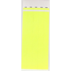 ID Wristbands 100 pack - Yellow