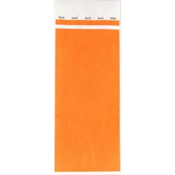 ID Wristbands 100 pack - Orange